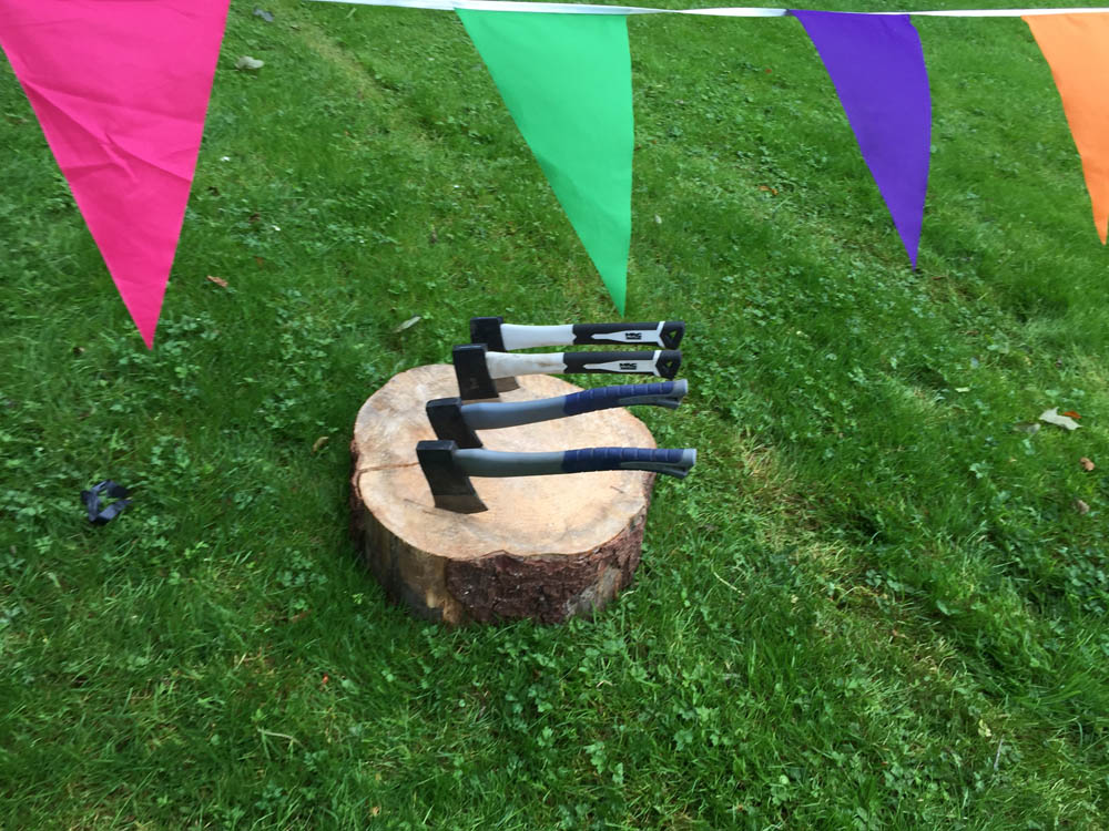 Axe throwing at the highland games